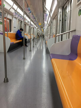 The inside of a metro train after lockdown Wuhan-1