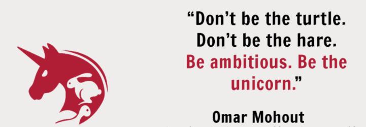 """Groeivisie van Omar Mohout: """"Be the unicorn""""."""