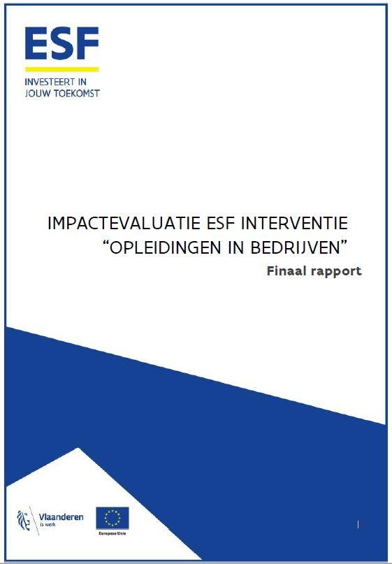Impactevaluatie ESF interventie 'opleidingen in bedrijven'