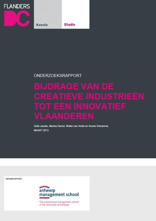 Innovatieve Bijdrage Creatieve Industrieën rapport