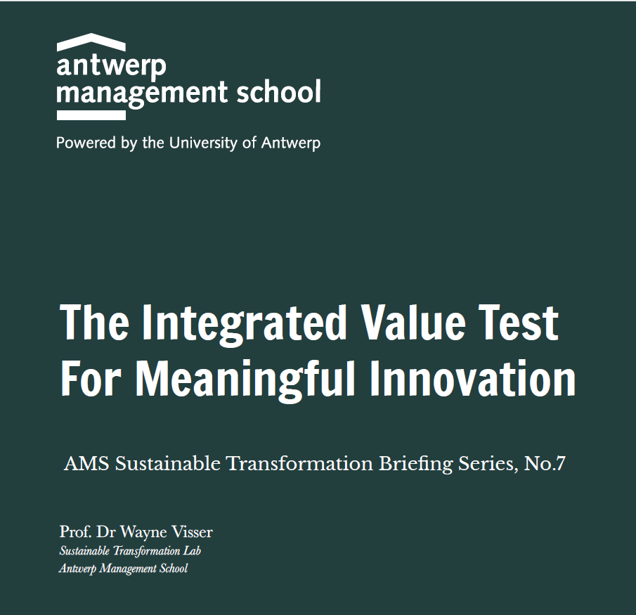 The Integrated Value Test For Meaningful Innovation